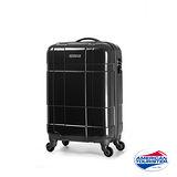 AT美國旅行者 22吋VENTURA PC立體方格TSA硬殼四輪拉桿行李箱(碳黑)