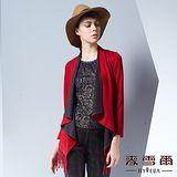 【麥雪爾】圓領套頭亮鑽條紋羊毛針織上衣(共二色)
