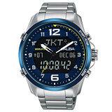 ALBA雅柏 雙顯數字刻度時尚男性腕錶/44mm/N021-X004B/AZ4025X1