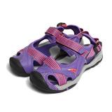 (女) 皮爾卡登 護趾水陸涼鞋 紫 鞋全家福