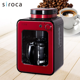 【福利品】日本siroca crossline 自動研磨咖啡機-紅舞伎 STC-408RD