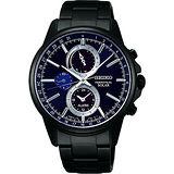 SEIKO SPIRIT 太陽能動力儲存計時碼錶-深藍x黑/41mm V198-0AC0P(SBPJ017J)