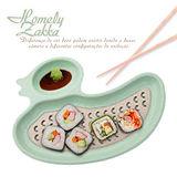 【Homely Zakka】麥趣食光健康環保小麥鴨子瀝水餐盤 (森林綠)