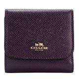 COACH 馬車防刮三折短夾/零錢袋(紫)
