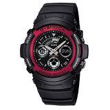 【CASIO 卡西歐】G-SHOCK 極速時刻雙顯運動時尚腕錶(46.4mm/AW591-4A)