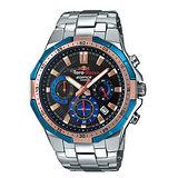 【CASIO 卡西歐】EDIFICE 限量紅牛車隊三眼計時不鏽鋼腕錶(EFR-554TR-2A)