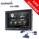 【GARMIN】nuvi 4590 5吋聲控衛星導航機+400KIT胎內事胎壓感測器大全配超值組 免費送專業藏線安裝