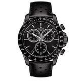 【TISSOT 天梭】V8 時尚特務三眼碼錶計時皮帶腕錶(42mm/T1064173605100)