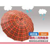 【百貨通】格紋無敵防風大傘