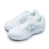 【男】ARNOR 透氣避震慢跑鞋 Q彈大底系列 MIX LAYER 校園白 63709
