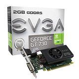 艾維克 EVGA GT730 2GB DDR3 128bit PCI-E 圖形加速卡