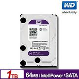 WD 紫標 1TB 3.5吋 SATAⅢ監控系統碟(WD10PURX)