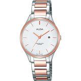 ALBA Fashion Lady 時尚俏甜心女錶-銀x雙色/30mm VJ22-X237KS(AH7L34X1)