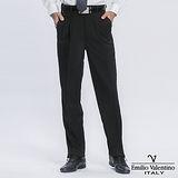 Emilio Valentino 范倫提諾精品打褶西褲-黑