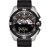 TISSOT 天梭 T-TOUCH EXPERT 太陽能觸控腕錶-黑/45mm T0914204605110