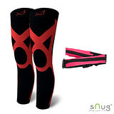【SNUG運動壓縮系列】健康運動壓縮全腿套 限量搭贈運動腰包 (深紅 S-3XL)