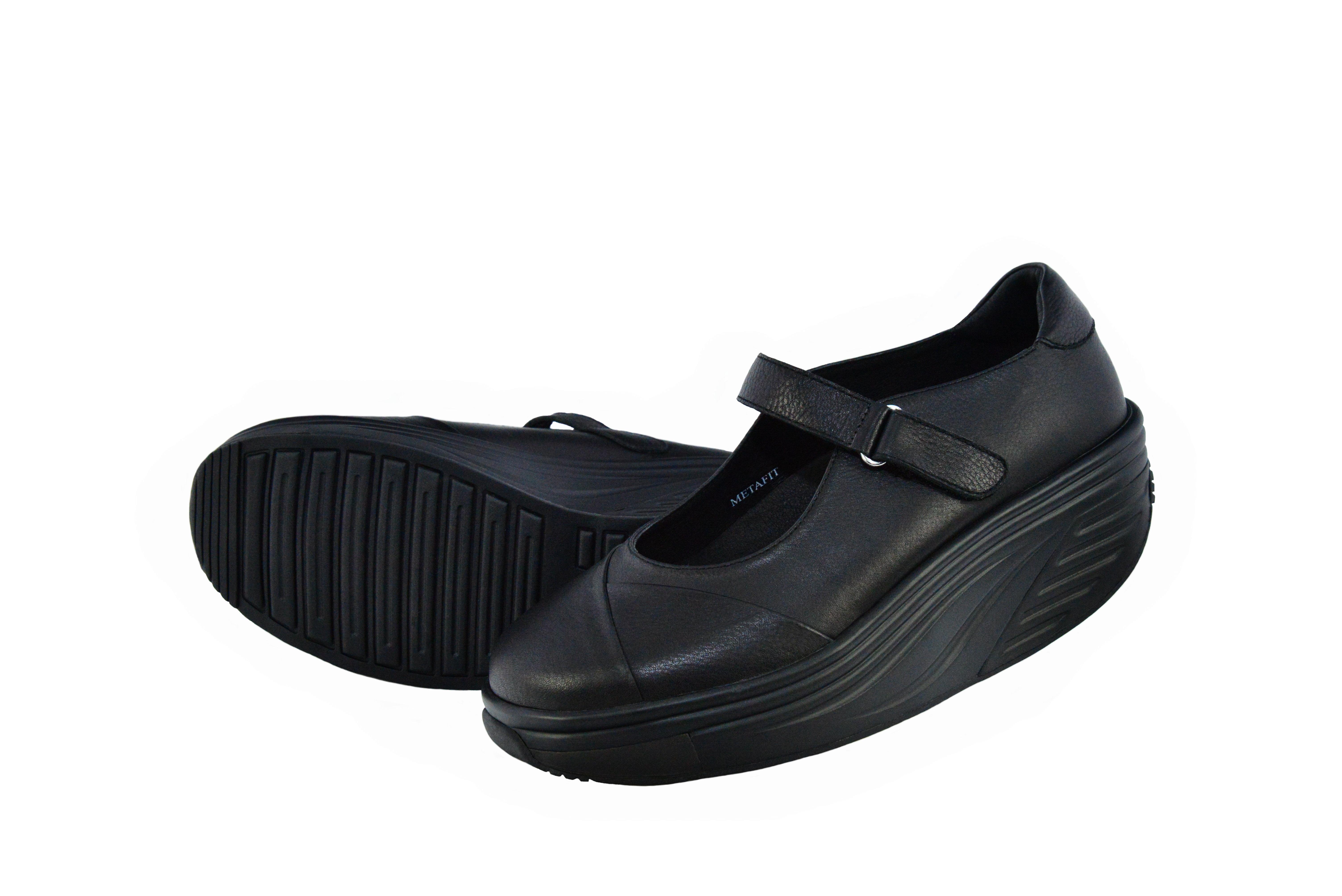 METAFIT時尚健康鞋~娃娃鞋系列~MJ7~樸實黑