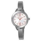MANGO 晶透光彩氣質時尚腕錶-MA6651L-82