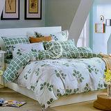【芳菲漫舞】雙人純棉四件式二用被床包組