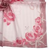 LANVIN 燙銀玫瑰浪漫公主風帕領巾-粉紅色