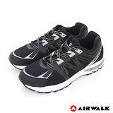 AIRWALK(男)- 鋼甲武士蜂巢網面運動慢跑鞋 - 海鯨黑
