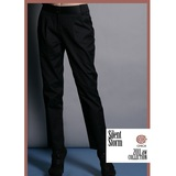 CHICA 純棉好質料 知性魅力西裝褲(共三色)-黑色