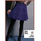 CHICA 潮流系圖騰 蝴蝶結短裙(共三色)-紫底紫點