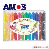 【BabyTiger虎兒寶】韓國 AMOS 神奇水蠟筆 - 中款 - 12 色