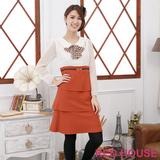 RED HOUSE-蕾赫斯-圓領蝴蝶結雪紡假兩件式洋裝(橘色)