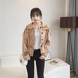 【DearBaby】韓版甜美個性風 拉繩繫腰造型外套-共二色(預購)