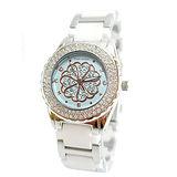 花漾點點晶鑽陶瓷腕錶女錶
