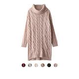 日本ANNA LUNA 預購-ViVi雜誌款 麻花羅紋長版高領針織上衣(共六色)