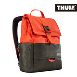 THULE 都樂-Daypack多功能13吋電腦雙肩後背包TDSB-113-橙橘/褐綠(忠欣公司貨)