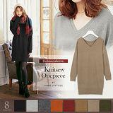 日本ANNA LUNA 預購-VIVI雜誌款 修身V領長版針織上衣(共七色)