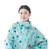 【rainstory】彩色點點連身甜美雨衣(M號)