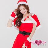 【天使霓裳】聖誕精靈 派對耶誕裝 角色扮演服(紅F)