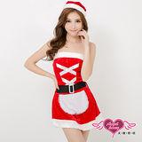 【天使霓裳】耶誕服 聖誕甜心女僕 狂熱聖誕舞會角色服(紅F)