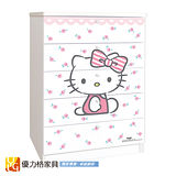 【優力格家具】Hello Kitty五斗櫃/衣櫃/櫥櫃