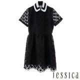 JESSICA-透視花漾薄紗浪漫洋裝