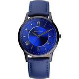 RELAX TIME RT58 經典學院風格腕錶-藍/42mm RT-58-10M