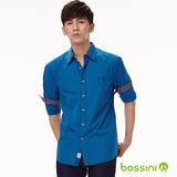 bossini男裝-格紋長袖襯衫09皇家藍-(品)