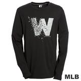 (男)MLB-華盛頓國民隊幾何logo棉質T恤-黑