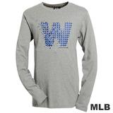 (男)MLB-華盛頓國民隊幾何logo棉質T恤-灰