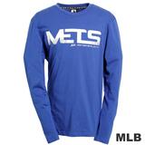 (男)MLB-紐約大都會隊字母logo棉質T恤-藍