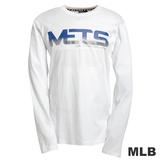 (男)MLB-紐約大都會隊字母logo棉質T恤-白