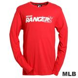 (男)MLB-德州遊騎兵隊LOGO棉質T恤-紅