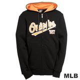 (男)MLB-巴爾的摩金鶯隊厚棉連帽外套-黑