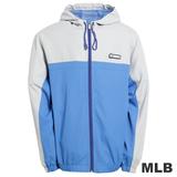 (男)MLB-紐約洋基隊連帽薄風衣外套-藍