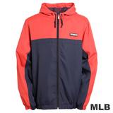 (男)MLB-紐約洋基隊連帽薄風衣外套-深藍