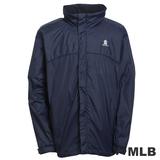 (男)MLB-紐約洋基隊可拆帽風衣外套-深藍